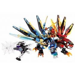 Lego NinJaGo MOC Sheng Yuan SY850 Double Pterosaur Flying Dragon Xếp hình Rồng băng lửa 2 đầu 426 khối