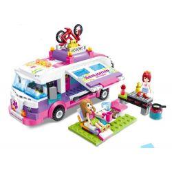 Lego Friends MOC Enlighten 2004 Outing strip bus Xếp hình Du lịch bằng xe buýt 319 khối