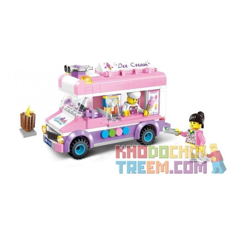 Lego Friends MOC Enlighten 1112 Mobile Ice Cream Car Xếp hình Xe bán kem lưu động 213 khối