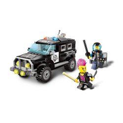 Enlighten 1110 Ultra Agents MOC Police Swat Car Xếp hình Ô tô cảnh sát đặc nhiêm 185 khối