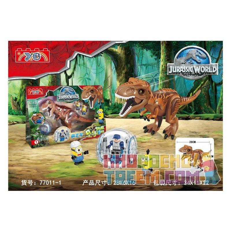 Lele 79151 YG 77011 77012 Jurassic World Indominus Rex And Tyrannosaurus Rex Xếp Hình Khủng Long Bạo Chúa Lai Tạo 24 Khối