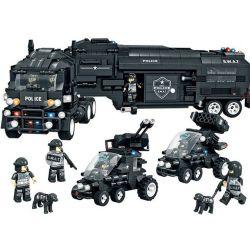 Lego Ultra Agents MOC Woman C0552 Police car Xếp hình Xe cảnh sát 1492 khối