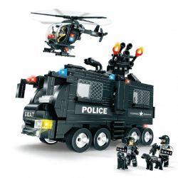 Lego Ultra Agents MOC Woma C0532 SWAT Team Force Xếp hình Lính đặc nhiệm phối hợp tác chiến 593 khối
