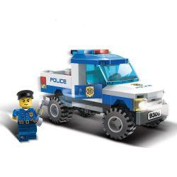 Gudi 9306 City Police Pickup Truck Xếp Hình Xe Bán Tải Cảnh Sát 84 Khối