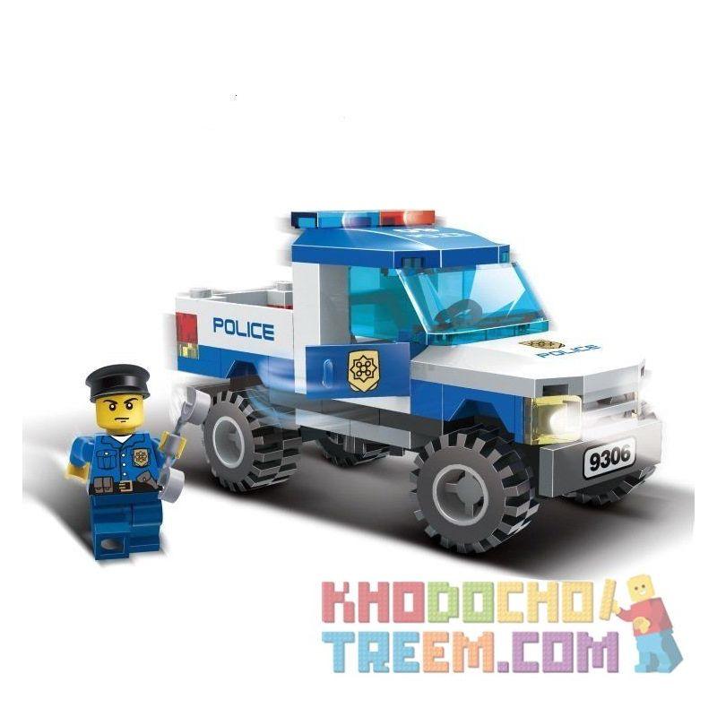 Xinlexin Gudi 9306 City Police Pickup Truck Xếp hình Xe Bán Tải Cảnh Sát 84 khối
