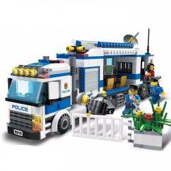 Gudi 9316 City MOC Police Mobile station Xếp hình Trạm cảnh sát lưu động 407 khối