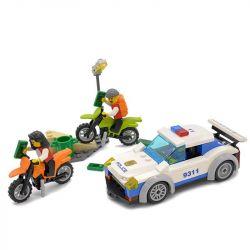 Lego City MOC Gudi 9311 Police Chasing Xếp hình Cảnh sát truy đuổi mô tô cướp 158 khối