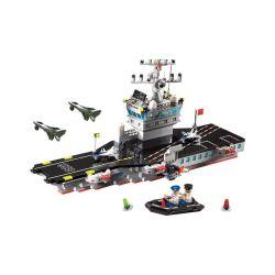 Lego Military Army MOC Enlighten 826 Aircraft Carrier Xếp hình Tàu sân bay 508 khối