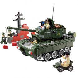 Lego Military Army MOC Enlighten 823 Battle Tank Xếp hình Xe tăng 466 khối