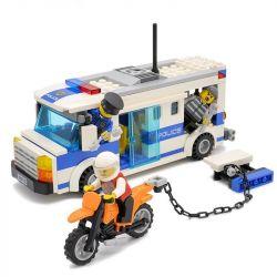Gudi 9313 City Police Prisoner Carrier Xếp Hình Xe Chở Phạm Nhân 204 Khối