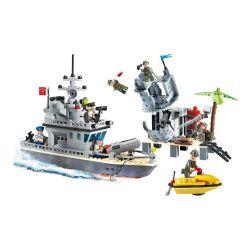 Lego Military Army MOC Enlighten 819 Fort of the island Xếp hình Tấn công căn cứ trên đảo 505 khối
