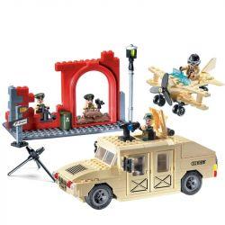 Enlighten 817 Military Army MOC Hummer Xếp hình Xe hummer bọc thép 323 khối