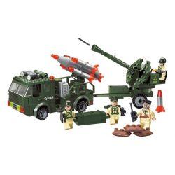 Enlighten 812 Military Army MOC Rocket Xếp hình Xe tải phóng rocket kéo pháo 242 khối