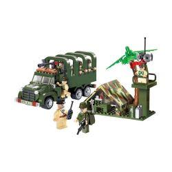 Enlighten 811 (NOT Lego Military Army 3 In 1 Carry Truck ) Xếp hình Xe Tải Chở Quân Lính 3 Trong 1 308 khối