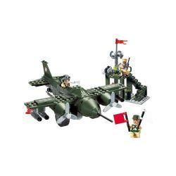 Lego Military Army MOC Enlighten 810 Air Force Battleplane Command Center Xếp hình Trung tâm chỉ huy không quân 225 khối