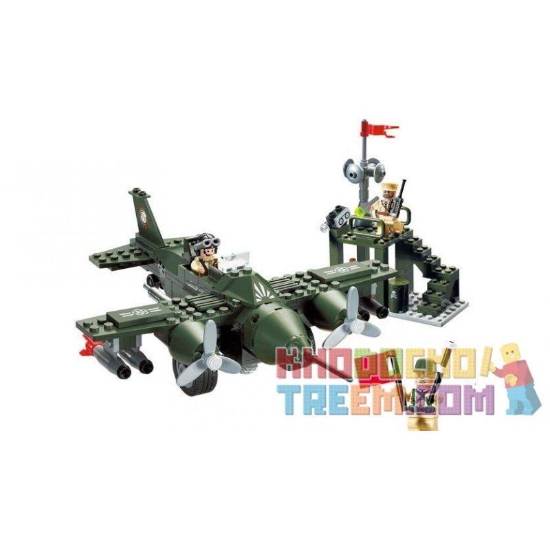 Enlighten 810 (NOT Lego Military Army Air Force Battleplane Command Center ) Xếp hình Trung Tâm Chỉ Huy Không Quân 225 khối
