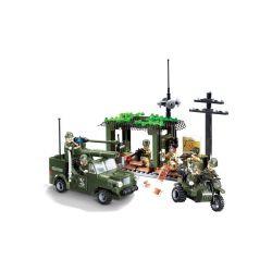 Lego Military Army MOC Enlighten 809 Military Intercept Car Xếp hình Tấn công đột nhập 285 khối