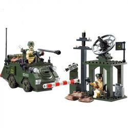 Enlighten 808 (NOT Lego Military Army Outpost ) Xếp hình Tiền Đồn 187 khối