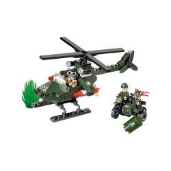 Lego Military Army MOC Enlighten 806 Military Helicopter Xếp hình trực thăng quân sự 119 khối