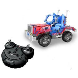 Lego Technic MOC Double E CaDa C51002W Fighting Leader RC Xếp hình Xe jeep động cơ pin sạc điều khiển từ xa 531 khối