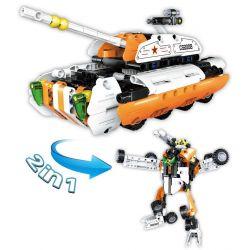 Doublee Cada C52008 C52008W (NOT Lego Technic Wheeled Tank Pull Back ) Xếp hình Xe Tăng Bánh Hơi Biến Hình 294 khối