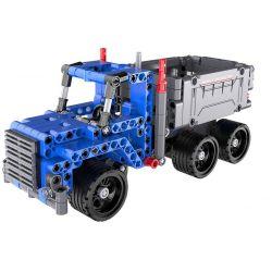 Doublee Cada C52011 C52011W (NOT Lego Technic Dump Truck Pull Back ) Xếp hình Xe Tải Chở Phế Liệu Kéo Thả 301 khối