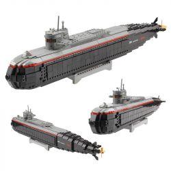 Lego Military Army MOC Kazi KY84028 A-submarine Xếp hình Tàu ngầm nguyên tử 850 khối