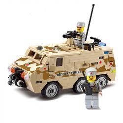 Lego Military Army MOC Kazi KY84026 Recovery Vehicle Xếp hình Xe giải cứu bọc thép 180 khối