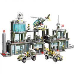 Lego Military Army MOC Kazi KY84011 Army Headquarters Xếp hình Trụ sở quân đội 1001 khối