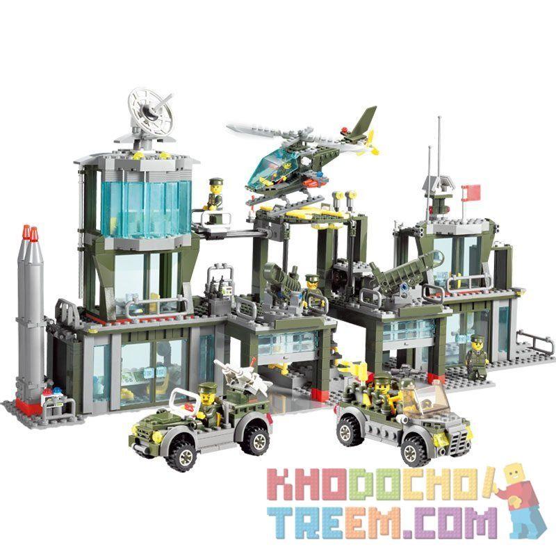 Kazi Gao Bo Le Gbl Bozhi KY84011 (NOT Lego Military Army Army Headquarters ) Xếp hình Trụ Sở Quân Đội 1001 khối