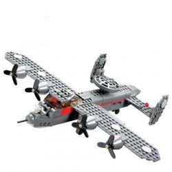 Lego Military Army MOC Kazi KY84007 G-1 Scout Xếp hình Máy bay chở quân 281 khối