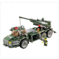 Lego Military Army MOC Kazi KY84004 Speed Forced Howitzer Xếp hình Xe pháo di động 331 khối