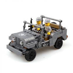 Kazi Gao Bo Le GBL Bozhi KY82007 Military Army American Jeep Xếp Hình Xe Jeep 199 Khối