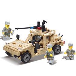 Kazi Gao Bo Le GBL Bozhi KY82004 Military Army Hummer Xếp Hình Xe ô Tô Vũ Trang 252 Khối