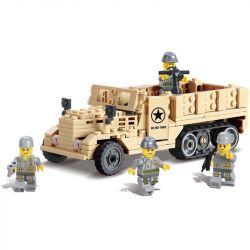 Lego Military Army MOC Kazi KY82003 M2 Half Track Xếp hình Xe tải nửa bánh xích 205 khối