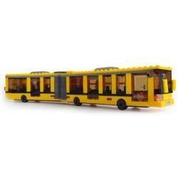 Kazi Gao Bo Le GBL Bozhi KY85016 City Brick City Bus Kuning Xếp Hình Xe Buýt Thành Phố Kuning 371 Khối