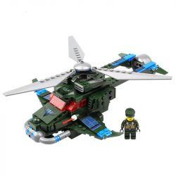 Kazi Gao Bo Le GBL Bozhi KY81001 Military Army Flash Freeze Airplane Xếp Hình Trực Thăng Phản Công Nhanh 251 Khối