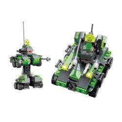 Lego Transformers MOC Kazi KY8017 Bazooka Xếp hình Robot biến hình xe tăng 133 khối