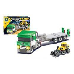 Kazi Gao Bo Le GBL Bozhi KY8040 City Trucks And Bulldozer Xếp Hình Xe Tải Và Xe ủi đất 145 Khối