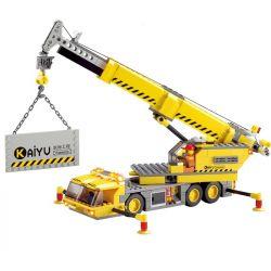 Lego City MOC Kazi KY8045 Crane Xếp hình Cần trục di động 380 khối