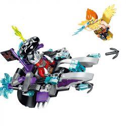 Enlighten 2203 (NOT Lego Creation of the Gods Demon Scooter ) Xếp hình Cỗ Xe Của Ma Lễ Hồng 129 khối