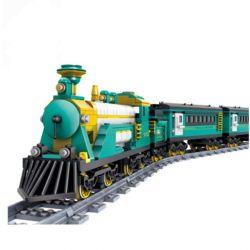 Gao Bo Le GBL KY98102 Creator MOC Puffing Billy Steam Train Xếp hình Tàu hỏa hơi nước chở khách có ray động cơ pin sạc 851 khối