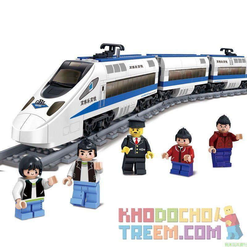Kazi Gao Bo Le GBL Bozhi KY98104 Creator Railway Express Xếp Hình Tàu Cao Tốc động Cơ Pin 415 Khối