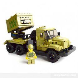 Kazi Gao Bo Le GBL Bozhi KY98404 Military Army Missile Launch Car Xếp Hình Xe Pháo Phản Lực 365 Khối