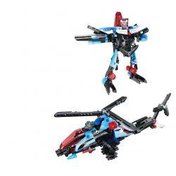 Doublee Cada C52007 C52007W (NOT Lego Technic Helicopter Gunship Pull Back ) Xếp hình Trực Thăng Biến Hình Kéo Thả 275 khối