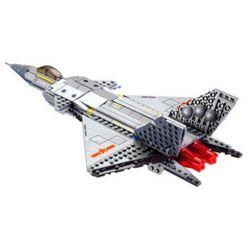 Lego Military Army MOC Kazi KY84030 J-20 Fighter Plane Xếp hình Máy bay chiến đấu J-20 322 khối