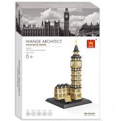 Wange 7012 4211 (NOT Lego Architecture 21013 The Big Ben Of London ) Xếp hình Tháp Đồng Hồ Big Ben gồm 2 hộp nhỏ 892 khối