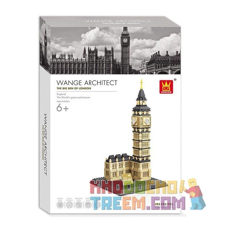 Wange 7012 Architecture 21013 The Big Ben Of London Xếp hình Tháp đồng hồ Big ben 892 khối