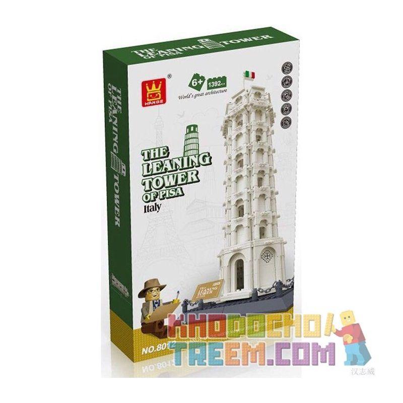 Wange 8012 5214 Architecture 21015 The Leaning Tower Of Pisa Xếp hình Tháp Nghiêng Pisa 1392 khối