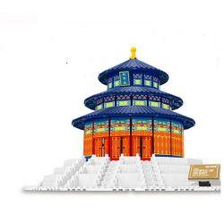 Lego Architecture MOC Wange 8020 The temple of Heaven Xếp hình Thiên đàn thờ trời 578 khối